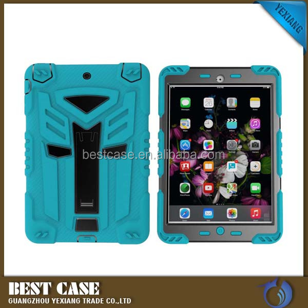 High quality 2 in 1 hybrid armor cover for ipad mini 3 case tpu +pc mobile phone case