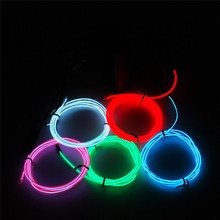 2016 wholesale cheap remote control lighting rgb high brightness el wire for party car decoration