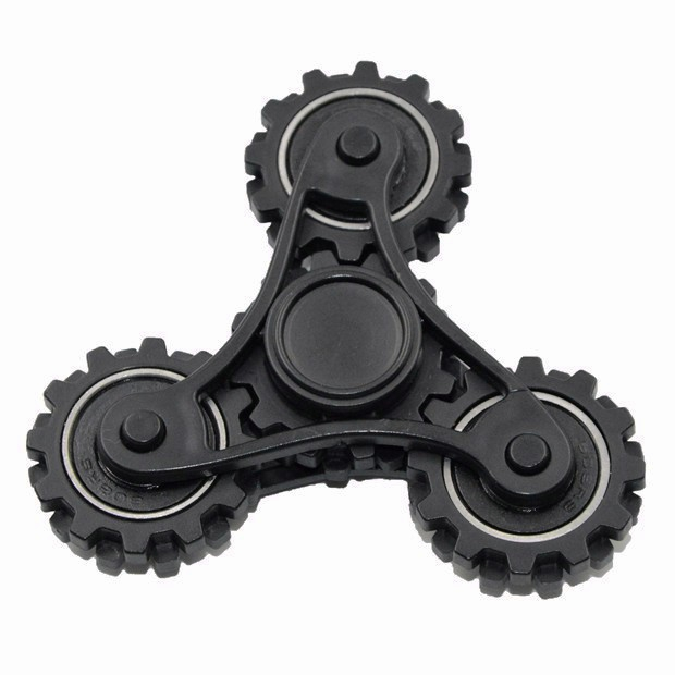 2017 New Plastic Stress <strong>Toy</strong> 3 Bar Gear Gyro Finger Hand Fidget Spinner