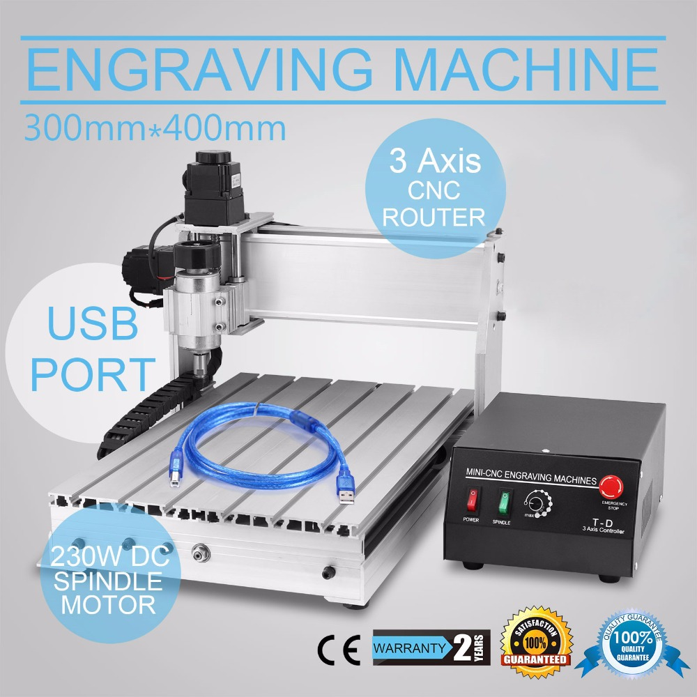 New USB <strong>CNC</strong> 3040-DQ Router Engraver/Engraving Drilling and Milling Machine