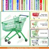 Europe Style Shopping Trolley 125L for Supermarket Equipment