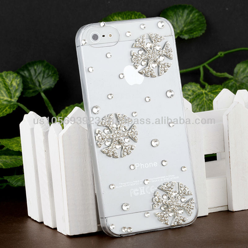 Handmake Diamond Snow Flower Phone case for Iphone 5/5s