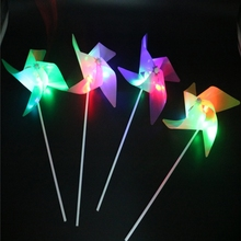 Cheap price Plastic LED light Four-leaf kidsToy <strong>Windmill</strong>, Random Color Delivery