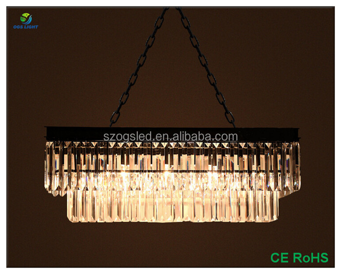 OGSCL02 rectangular chandelier lighting modern crystal chandelier for home decor