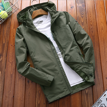 men's fashion thin outdoor solid color casual jacket