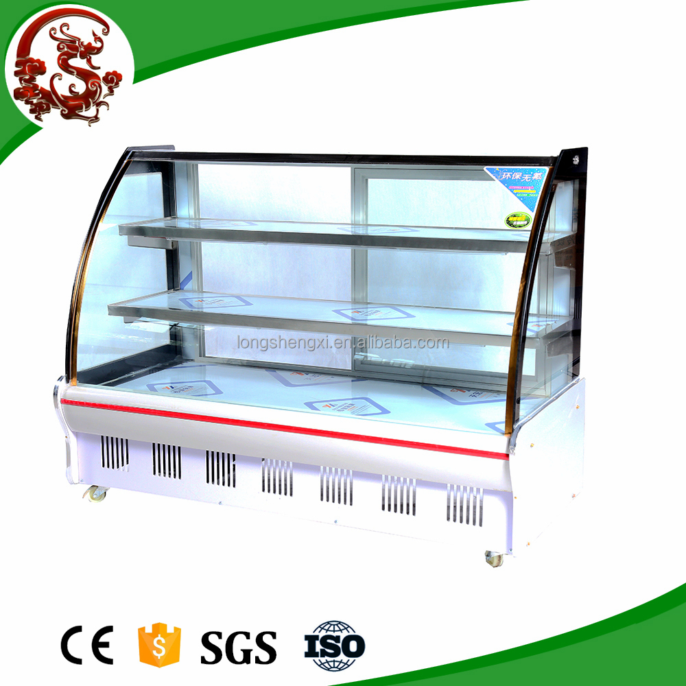 High-end cheap fruit and vegetable display cooler with big curve glass
