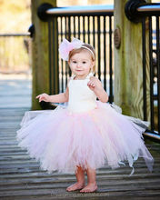 Blush Flower Girl Dress--Tutu and Corset Top--Beautiful Bow and Rhinestones--Many Colors--Perfect for Weddings or Portraits