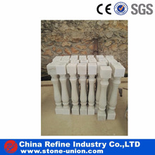 White marble customized natural stone columns pillars