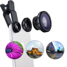 Christmas New Year OEM logo gift items Glass lens Universal Clip-on Fish-Eye Lens for phone camera lens