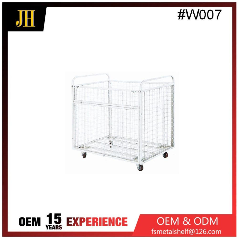 lockable rolling metal storage cage with wheels