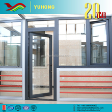 2016 Hot sale low price custom designed double entry glass inserts storm doors