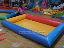 Classic design cheap inflatable water slide and pool