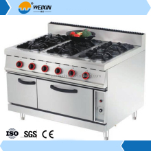 Kitchen Equipment 2 Double all Brands 4 Burner Gas Stove with Griddle & Electric Oven