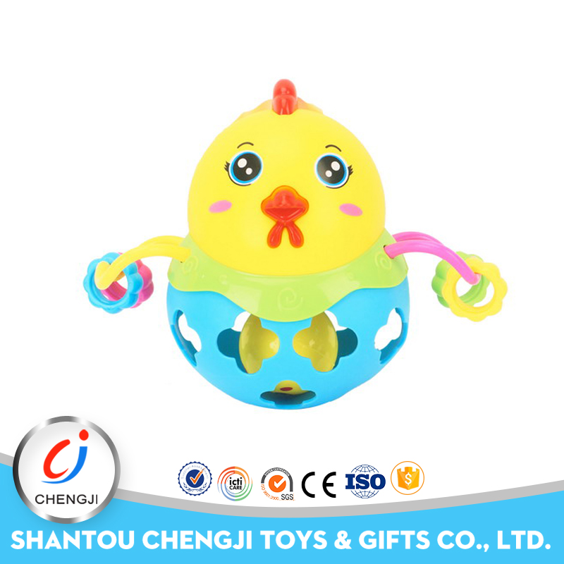 New item plastic rattle musical soft toy chicken for kids