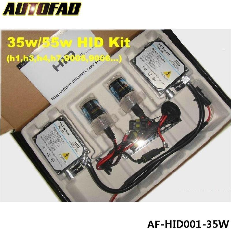 35W XENON HID KIT single lamp H1 H3 H7 H8/9/<strong>11</strong> 9005 9006 Bulbs ALL COLORS 4300K 5000K 6000K 8000K 10000K 12000K AF-HID001-35W