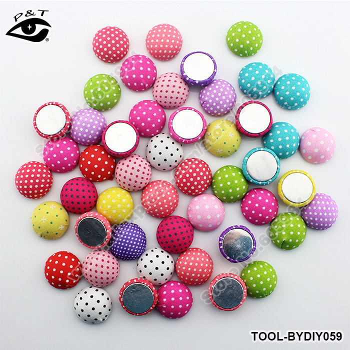 22mm Big Dotted Semicircle Fabric Cloth Covered Button Flatback Button for DIY Garment Decoration