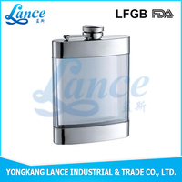 2016 new arrival mini hip flask well-design-hip-flask-for-all plastic alcohol hip flask