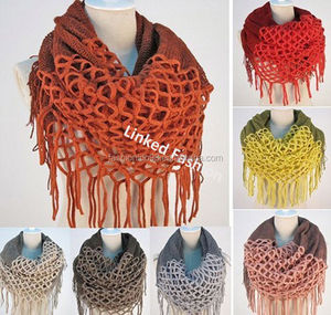 new design flag knit scarf knit scarf for women