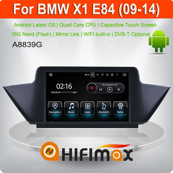 HIFIMAX Android 5.1.1 For bmw x1 E84 car gps/car radio for bmw 1 series/touch screen