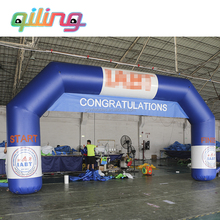 QiLing inflatable start / finish line archs sport entrance, customized racing inflatable arch