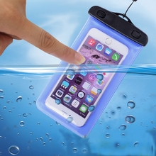 Popular Universal Waterproof Mobile Phone Bag Clear Pouch Case Cover with Neck Strap for iPhone for Samsung