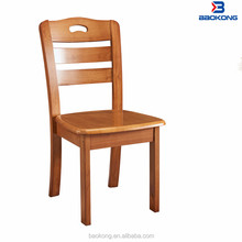 Oak Wood Chair High Back Dining Room Beech Colour Wooden Chair