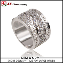 JN4036 china suppliers Platinum silver plated copper brass material ring latest model ring