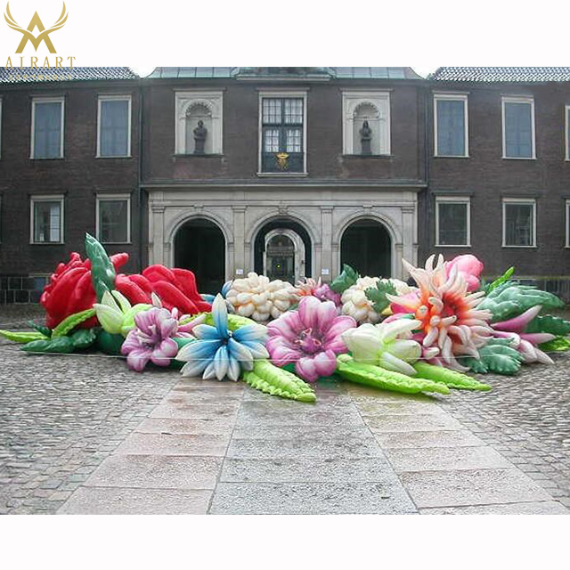 A kind of colorful outdoor inflatable model children's party decor inflatable flower