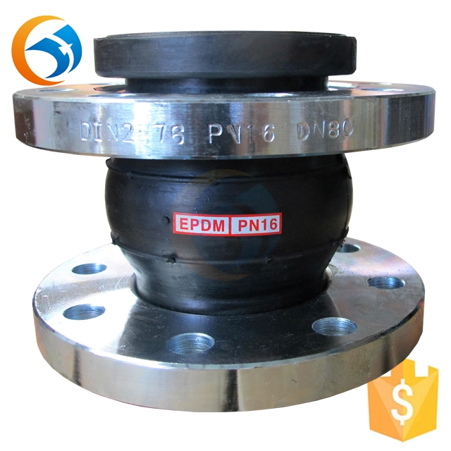 hypalon flexible hydraulic rubber expansion joints galvanized pipe flange