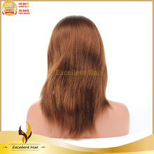 Factory unprocessed Natural Black Color Light Yaki Alibaba Express Brazilian Human Hair Full Lace Wigs With Permanent Curl