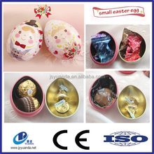 Egg shape candy tin box for gift packaging/easter egg candy tin