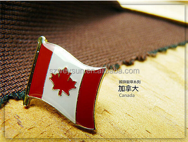 Canada flag lapel pin,metal national flag promotion gifts