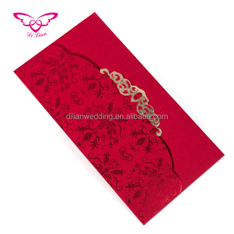 Top quality custom made red envelope