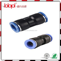 Best selling straight metal connector,PU hose connector and pneumatic cylinder