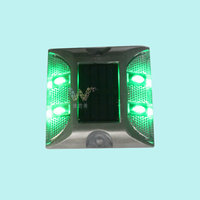 High quality IP68 road safety 4pcs LED Aluminum Solar Road Stud on sale