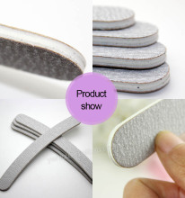 TSZS Wholese Professional Custom Emery Board EVA Zebra Curved Abrasive Nail Files