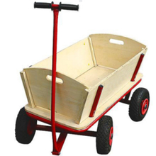 4 wheel wooden metal beach wagon for kids