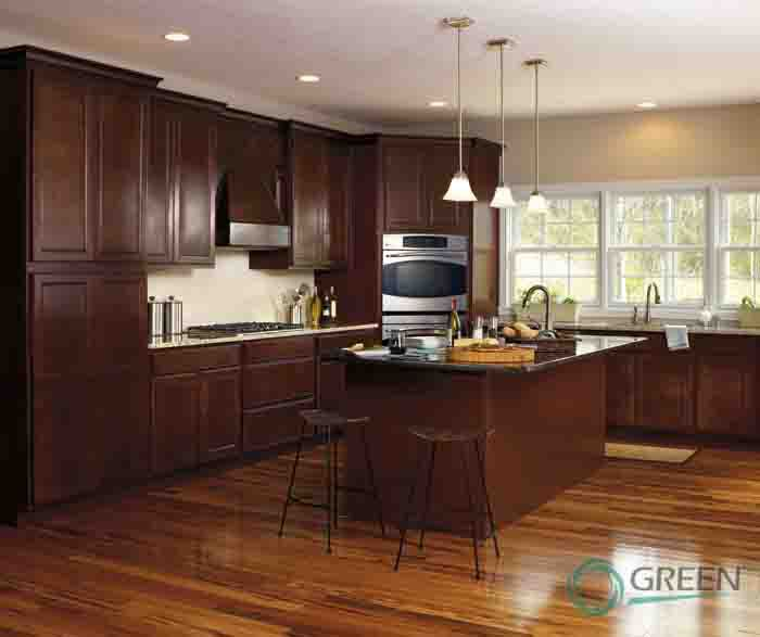 fashionable design contemporary beech wood kitchen cabinet