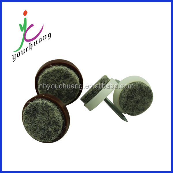 Adhesive plastic furniture glides for chairs
