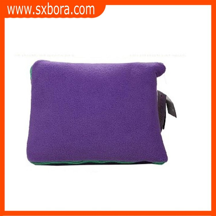 polar fleece foldable blankets pillow