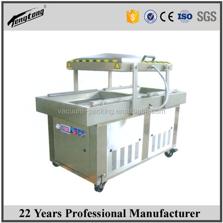 MAP double chamber vacuum packing machine DZD-680 2SD food vacuumizer