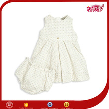 simple fruits fancy new baby girls boutique style south white cotton party dress material costumes wholesalers for kids