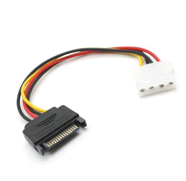 "link-YH493 6"" Inch 16cm 4pin Molex Female to 15pin SATA Male Power Adapter Cable Cord"