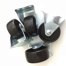 black Pp 50mm small fixed caster wheel