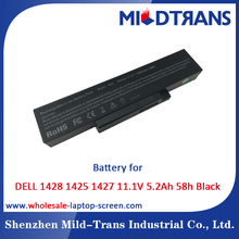 Mildtrans Factory price Replacement Laptop Battery for DELL 1428 1425 1427 11.1V 5.2Ah 58h Black