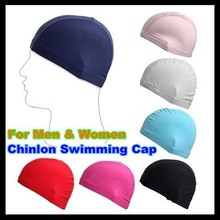 MOON BUNNY Nylon Dual Lines Protect Ears Long Hair Sports Siwm Pool Swimming Hat Adults Boy Girl Sporty Ultrathin Children Bathi