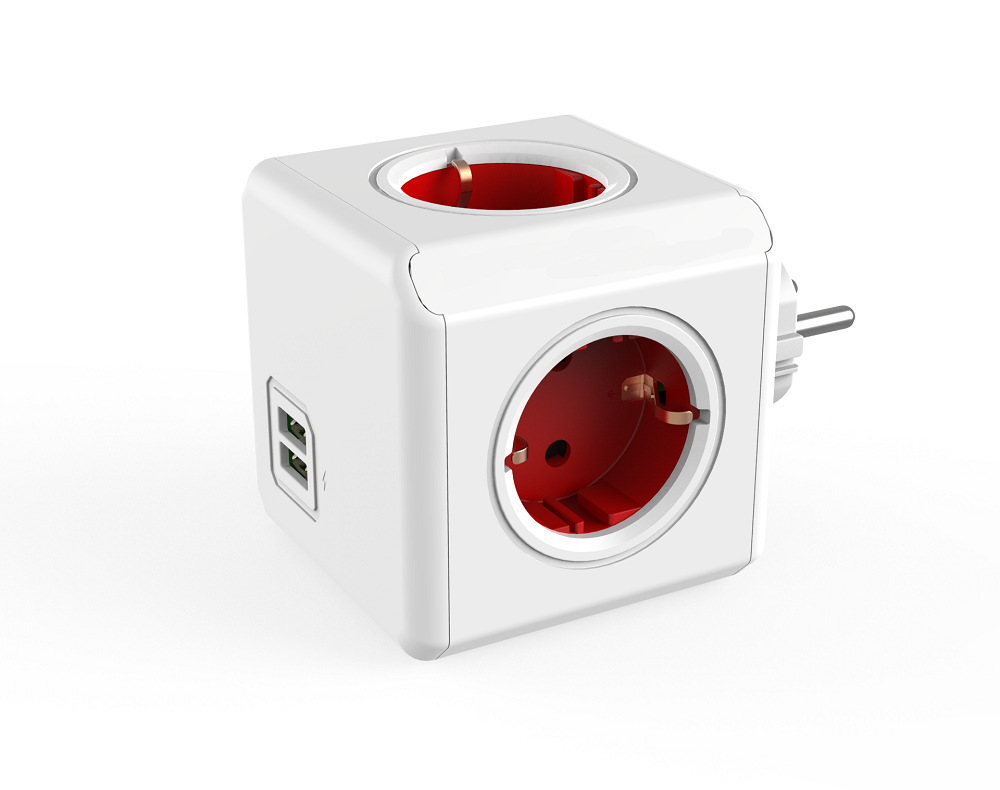 Wholesale EU USB power socket, EU power cube made in china electrical socket