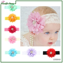 Baby Lace Stretch Headband Hairband With Belt Infant Hairband Hair Accessories
