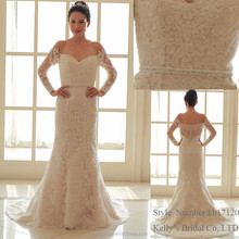2017 new collection france lace mermaid tulle bride's wedding dress