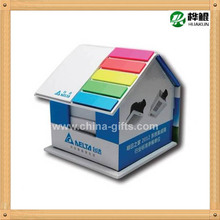 house shape memo pad with sticky notes